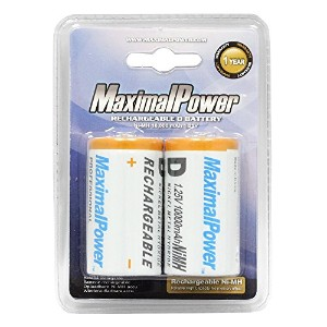 MaximalPower D2-10000 Maximalpower D NiMH Ni-Mh Rechargeable バッテリー 10000mAh Batteries パック カウント 「汎用品...
