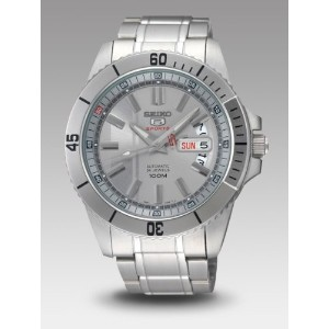 Seiko 5 セイコー メンズ腕時計 Automatic Sports Grey Sial Steel Mens Watch SRP421