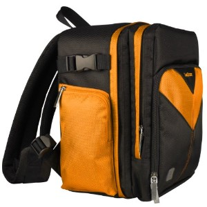 Sparta トラベル ナイロン バックパック Bag (Orange/Black) For Nikon D4, D4s, D40, D40x デジタル SLR Camera (D4 Series)...