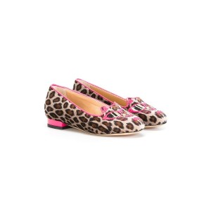 Charlotte Olympia Kids - Incy Pretty In Pink Kitty バレエシューズ - kids - レザー/スエード/rubber - 25