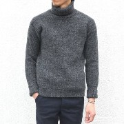 S.E.H KELLY(エス・イー・エイチ・ケリー) / WELSH LAMBSWOOL ROLLNECK -GREY-