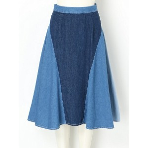 【SALE/45%OFF】ANSEASON PANEL DENIM FLARED SKIRT アンリアレイジ スカート【RBA_S】【RBA_E】【送料無料】