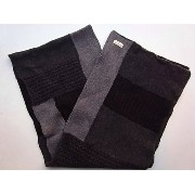 Nudie Jeans(ヌーディー ジーンズ)【DAGSSON】RECYCLED WOOLPATTERN SCARF☆GREY MELANGE★