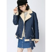 【SALE/45%OFF】X-girl FAUX SHEARLING RIDERS JACKET エックスガール コート/ジャケット【RBA_S】【RBA_E】【送料無料】