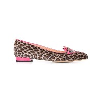 Charlotte Olympia - Pretty In Pink Kitty スリッポン - women - レザー/スエード/rubber - 39