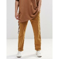 ASOS エイソス Straight Leg Cargo Pants In Sand