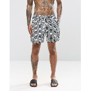 ASOS エイソス Swim Shorts ショーツ With Geo Print In Mid Length