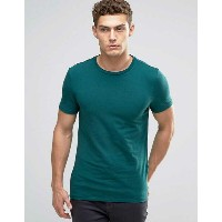 ASOS エイソス Muscle T-Shirt Tシャツ With Crew Neck In Green