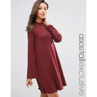 ASOS エイソス TALL Swing Dress ドレス ワンピース with Long Sleeves and Keyhole