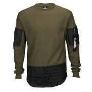サウスポール メンズ トップス ジャージ【Southpole Thermal Scallop Long Sleeve T-Shirt】Olive