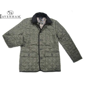 【期間限定30%OFF!】LAVENHAM(ラベンハム)/MEN'S HELMINGHAM(ヘルミンガム)BRITISH HERRINGBONE WOOL QUILTING JACKET/grey...