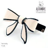 Alexandredeparis アレクサンドルドゥパリ【AA8-12689-03】Basic Basiques Lisere Barrette AutoNoeud Tenderly リボンバレッタ...