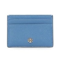 可愛い☆Tory Burch☆Robinson Slim Card Case Wallis Blue Tory Burch(トリーバーチ) バイマ BUYMA