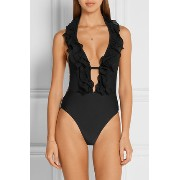 Agent Provocateur★Bettina ruffled halterneck swimsuit♪ Agent Provocateur(エージェントプロヴォケイター ) バイマ BUYMA