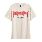 Printed Crew-neck T-shirt (PURPOSE TOUR x Fear of God beige) PurposeTour by JustinBieber バイマ BUYMA