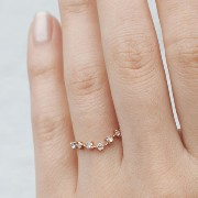 CURVED SNOW QUEEN RING, ROSE GOLD Catbird(キャットバード) バイマ BUYMA