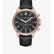 Gage Rose-Gold Tone and Leather Watch Michael Kors(マイケルコース) バイマ BUYMA