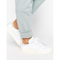 adidas Originals White Stan Smith Trainers With Silver スニーカー adidas(アディダス) バイマ BUYMA