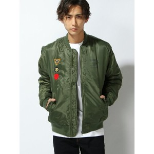 【SALE/30%OFF】DOUBLE STEAL PATCH MA-1JACKET ダブルスティール コート/ジャケット【RBA_S】【RBA_E】【送料無料】