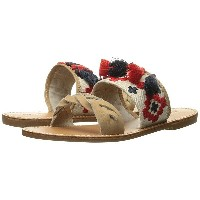 ソルドス レディース サンダル シューズ Embroidered Slide Flat Sandal Sand Cotton Woven Canvas