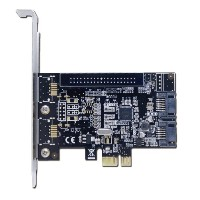 エアリア JET Mini SATAIII 2ポート PCI express ×1(Gen2) Marvellチップ搭載 SD-PESA3-2L