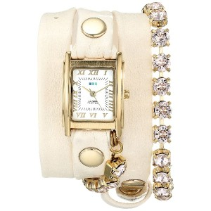 La Mer Collections Women's LMMULTI5001 Chandelier Crystal Chain Collection Silk Chandelier Watch...
