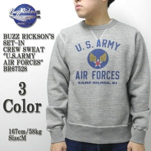 """BUZZ RICKSON'S バズリクソンズ SET-IN CREW SWEAT """"U.S.ARMY AIR FORCES"""" BR67528"""