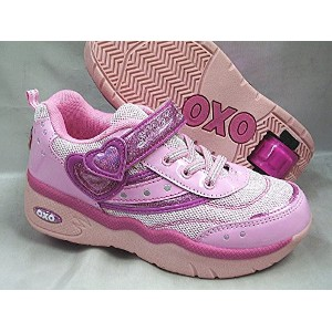 Shock SW013 ローラーシューズ 女の子 キッズ ジュニア 子供靴 スニーカー SHOCK by OXO SW13 (23.0, ピンク)