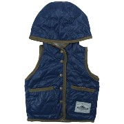 【H27年冬物】OFFICIAL TEAM(オフィシャル チーム) 中綿入りタフタQuiltting Reversible Vest 80cm/NAVY NO.OT-15AW-1002