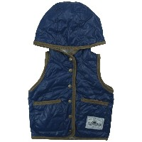 【冬物】OFFICIAL TEAM(オフィシャル チーム) 中綿入りタフタQuiltting Reversible Vest 80cm/NAVY NO.OT-15AW-1002