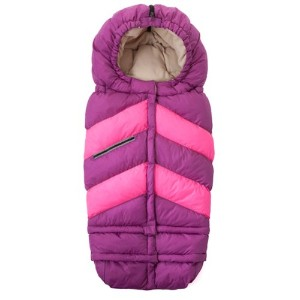 7A.M. ENFANT Blanket 212 Chevron Grape/Neon Pink ベビーカーフットマフ SIZE(0-4T)