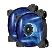 Corsair Air Series AF120 LED Quiet Edition High Airflow Fan Twin Pack - Blue (CO-9050016-BLED) ...