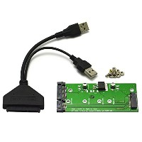 "Goliton® アダプタカード USB 3.0 to SATA 2.5"" Hard Disk to M.2 NGFF PCI-E 2 Lane SSD E431 E531 X240 Y410P..."