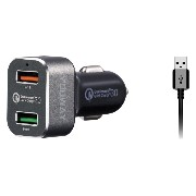 優れたUSBシガーソケット充電器 Qualcomm Quick Charge 2.0 & 3.0に互換性有り、iPhone・Android・Samsung Galaxy・Nexus・LG...