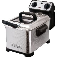 T-fal ティファール ディープフライヤー Family Pro 2.6-Pound 3-Liter Deep Fryer with Stainless Steel Waffle, Silver ...