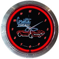 Neonetics Corvette C2 Stingray Neon Wall Clock, 15-Inch [並行輸入品]