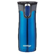 Contigo Autoseal West Loop Stainless Steel Travel Mug with Easy Clean Lid マグ 450ml ブルー