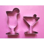 FAK Cocktail Cup Wine カクテル カップ ワイン クッキーの抜き型 cookie cutter set