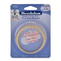 Brass Fancy Square German Style Craft Wire 21 Gauge/.028IN 2.5M