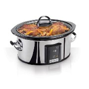 Crock-Pot Programmable Touchscreen Slow Cooker SCVT650-PS, 6.5-Quart, Silver by Crockpot [並行輸入品]
