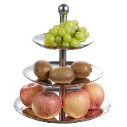 Visol Products 3-Tier Stainless Steel Stand for Serving Candy/Dessert/Cheese/Cupcake/Fruit, Silver ...