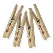 honeycando wood clothespins 木製洗濯ばさみ 100個 DRY-01376