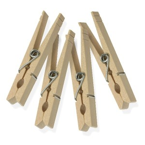 honeycando wood clothespins 木製洗濯ばさみ 50個 DRY-01375