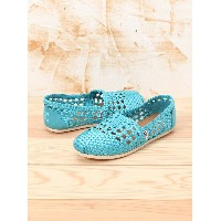 TOMS W CLSC Teal Satin Woven トムス【送料無料】