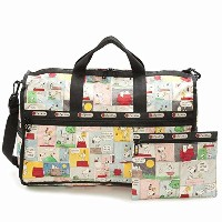 LeSportsac 7185-P687 PEANUTS SNOOPY PATCHWORK/スヌーピーパッチワーク Large Weekender(ラージウィークエンダー)ボストンバッグ/旅行/宿泊...