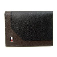 TOMMY HILFIGER 【トミーヒルフィガー】 カードケース 名刺入れ 31TL20X002 014 BLACK/BROWN