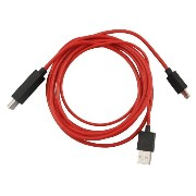 COOLEAD-Red 6ft 2M 1080P MHLマイクロUSB to HDMI HDTVケーブルアダプタ Samsung Galaxy S3 I9300 S4 I9500 Note2...