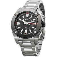 Seiko Men's SUN005 Kinetic GMT Silver-Tone Watch [並行輸入品]