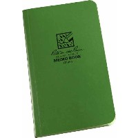 RITE IN THE RAIN MEMO BOOK SIDE BOUND FIELD FLEX GREEN COVER (SIZE 3.5X6 IN) (Parallel Imported...