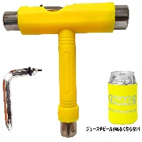 【OMG!】 SKATEBOARD TOOL WRECH YELLOW KOOZIE付 スケートボード ツール レンチ 工具 イエロー クージー付